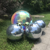 cheap PVC inflatable dazzle mirror ball  rainbow colorful Reflective mirror ball for event show  used for mall decoration