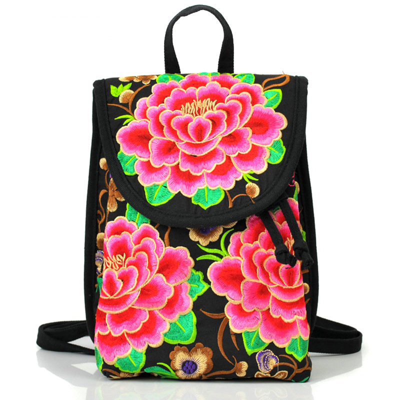 New Arrival Lady New Embroidery Unique Nice School Bag Ethnic Travel Rucksack Shoulder Bags Women National Style Backpack 2016 summer national ethnic style embroidery bohemia design tassel beads lady s handbag meessenger bohemian shoulder bag