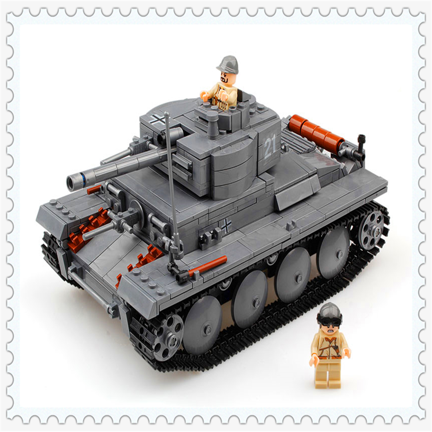 868Pcs Building Block Toys Military German Light Tank Model KAZI 82009 Figure Brinquedos Gift For Children Compatible Legoe lepin 22001 pirate ship imperial warships model building block briks toys gift 1717pcs compatible legoed 10210