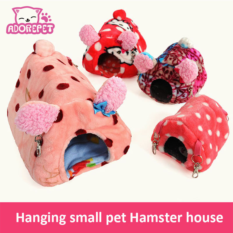 Cute small animal pet rabbit rabbit hamster house bed for Guinea pig accessories diy