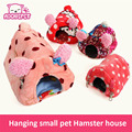 Cute Small Animal pet Rabbit Hamster house bed rat squirrel Guinea Pig winter warm hanging House cage Nest Hamster accessory