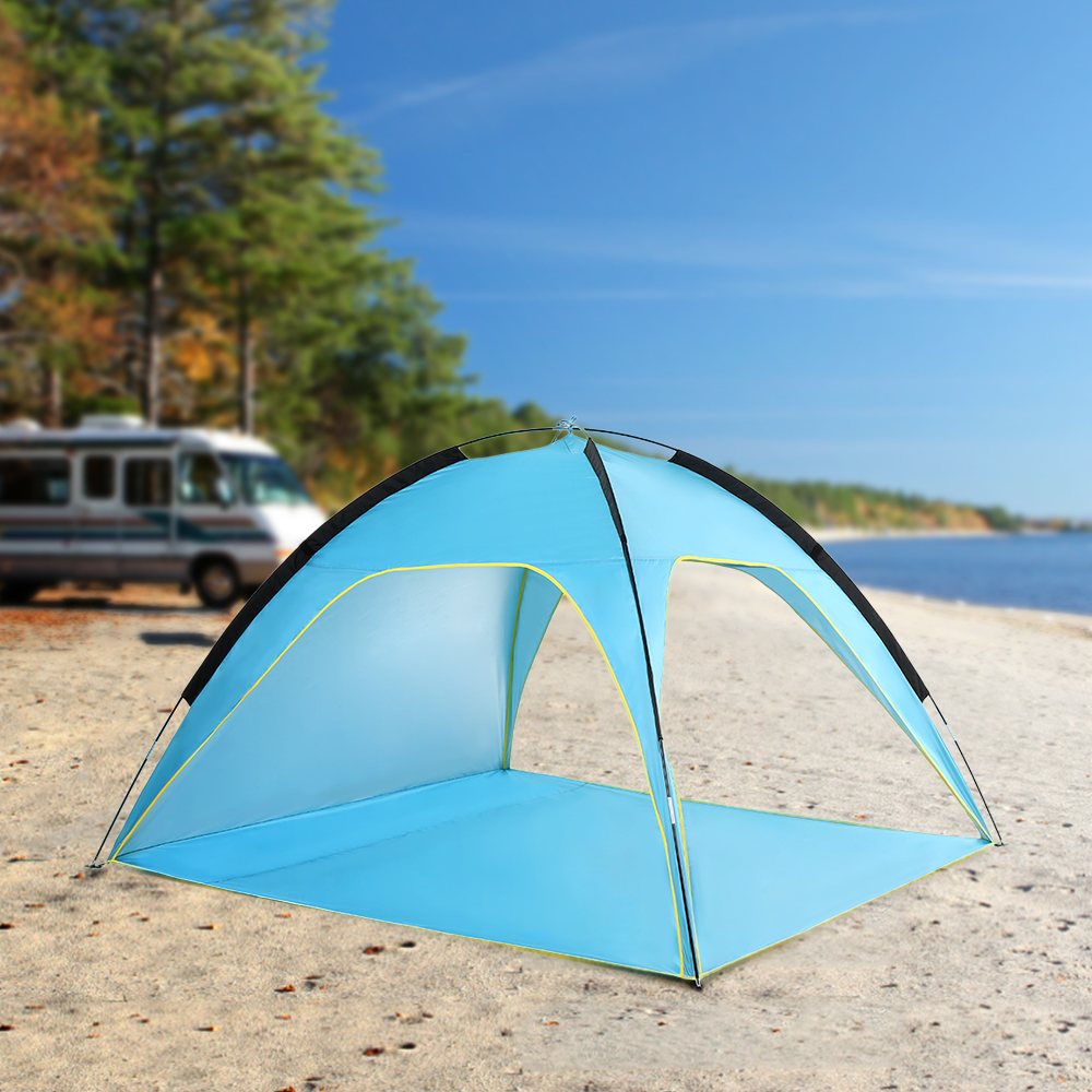 Lightweight Beach Tent Sun Shade Canopy UV Sun Shelter Camping Fishing Tent Camping Tent Travel Beach Tents Outdoor Camping-in Tents from Sports & Entertainment