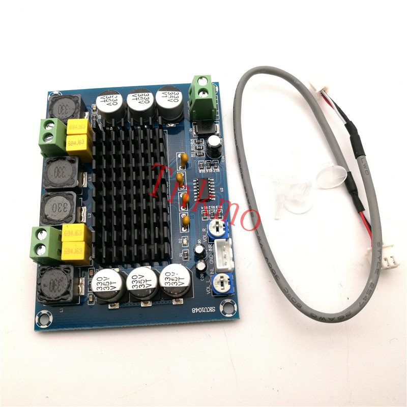 Free shipping 1pcs TPA3116D2 XH-M543 Dual-channel Stereo High Power Digital Audio Power Amplifier Board 2*120W new arrival tpa3116d2 50wx2 100w 2 1 channel digital subwoofer amplifier board 12v 24v power free shipping