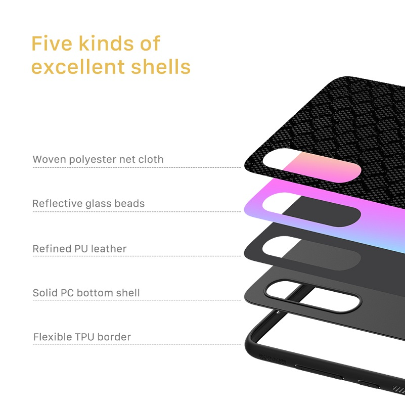 Image 2 - NILLKIN woven polyester mesh Reflective Case PC Back Cover for Xiaomi Mi 9 Case For Xiaomi Mi 9 explorer case cover 6.39 inchHalf-wrapped Cases   -