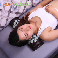 POP RELAX real jade stone cervical pillow body waist back pain relief traction health care neck massager physiotherapy device