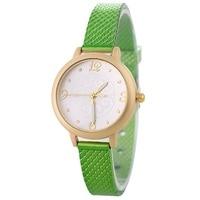 Green women bracelet watches quartz rhinestone wristwatches relogio feminino luxury leather clock printing dial lady watch new