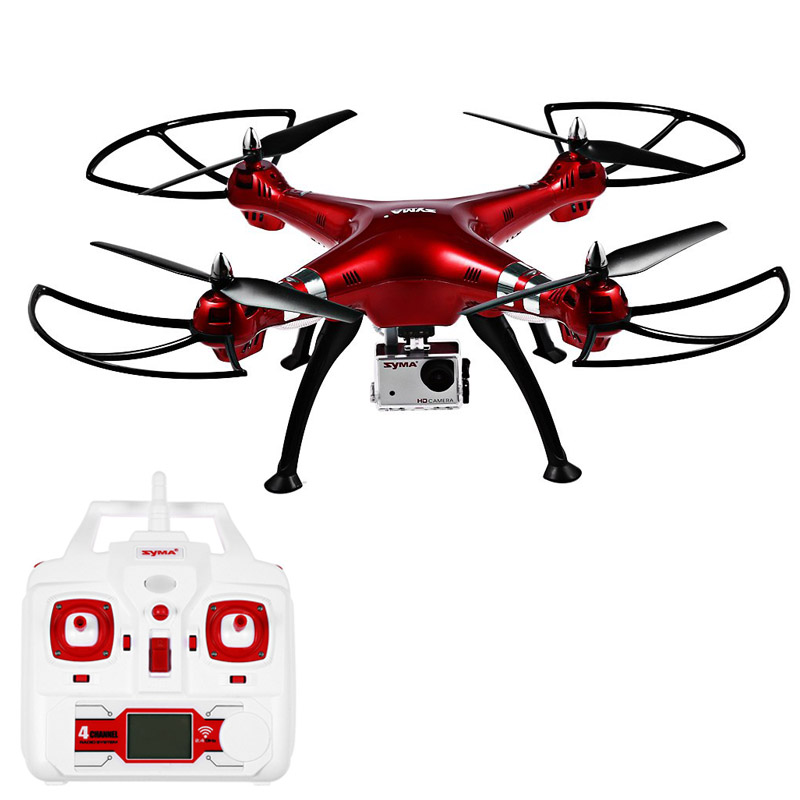 Syma X8HG RC Drone Dron FPV 8MP Camera 2.4GHz 4CH 6 Axis Gyro Quadcopter Flying Helicopter with Light Quad Copter Toys 2016 New 2015 new jxd391 2 4g 4ch rc helicopter 6 axis gyro rc quadcopter with camera and flashing led light big drone as festival gift