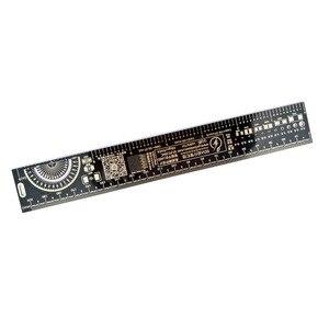 Image 3 - 10 шт. многофункциональная линейка PCB EDA измерительный инструмент Высокая точность транспортир 20 см черный