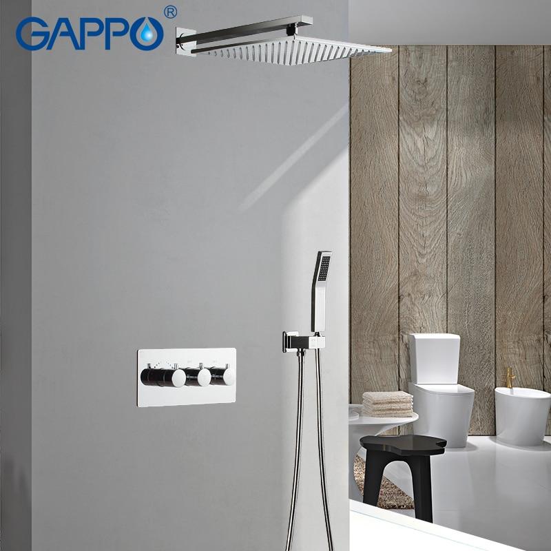 GAPPO Shower Faucets rainfall shower set bath mixer faucet bathroom shower rain mixer taps waterfall faucet bath tub faucet все цены