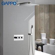 цена на GAPPO Shower Faucets rainfall shower set bath mixer faucet bathroom shower rain mixer taps waterfall faucet bath tub faucet