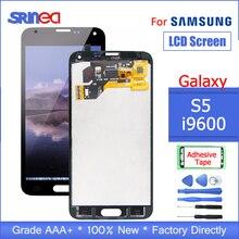 100% サムスンギャラクシー S5 G900F 液晶表示画面についてテスト G900 I9600 G900A タッチスクリーンデジタイザアセンブリの交換粘着