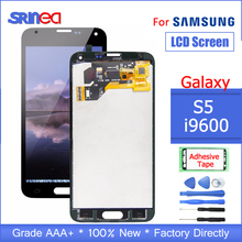 100% Testato Per Samsung Galaxy S5 G900F Display LCD Schermo G900 I9600 G900A Touch Screen Digitizer Assembly di Ricambio Adesivo