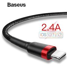Baseus Classic USB Cable for iPhone XS Max ładowarka USB do transmisji danych dla iPhone X 8 6 6s 2 4 A przewód USB do ładowania przewód telefoniczny adapter tanie tanio Odwracalne 8 piny -ów BASEUS (ang IPhony Apple Organizator nawijaka kablowego za darmo Stop aluminium + TPE + pleciony drut