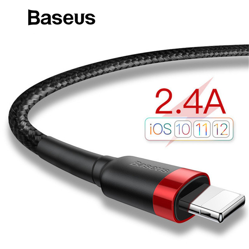 Baseus Classic USB Cable for iPhone xs max Charger USB Data Cable for iPhone X 8 6 6s 2.4A USB Charging Cable Phone Cord Adapter 3m cute flat noodle design usb 8 pin data sync charger cable for iphone 5 5s 5c