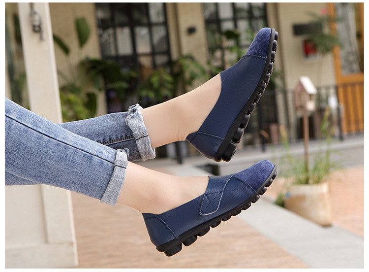 AH 1987-2019 Spring Autumn Women's Shoes Genuine Leather Woman Loafers-19