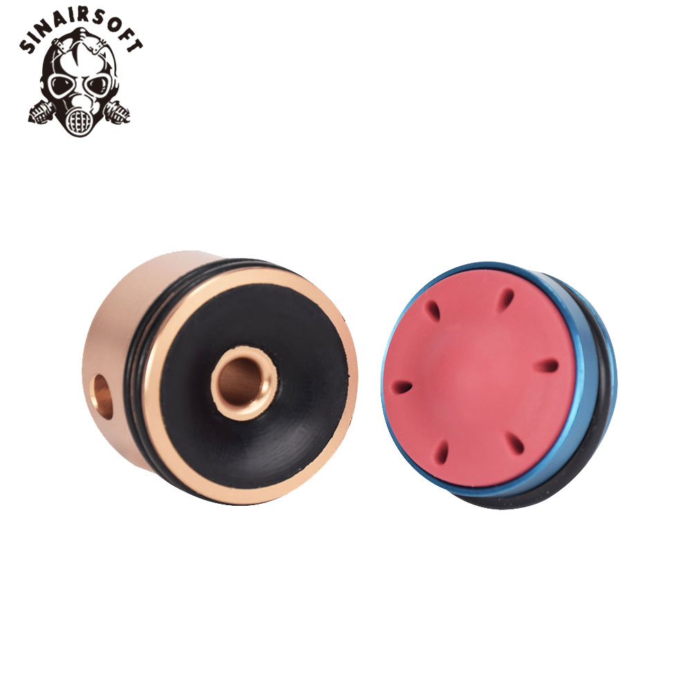 Hot Silent Bearing Piston And SHS CNC Aluminum Cylinder Head Kit Fit Ver.2/3 Gearboxes For Paintball Hunting Accessories