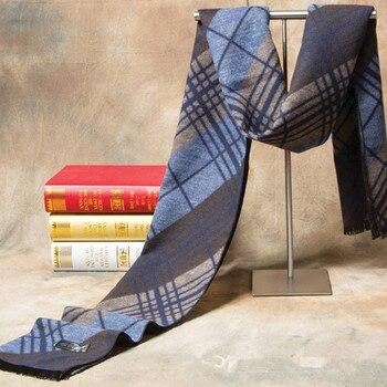 2017 Новый бренд зимний кашемировый клетчатый шарф мужской модный дизайн теплый Шелковый шаль шарфы мужской высокое качество мужские шарфы