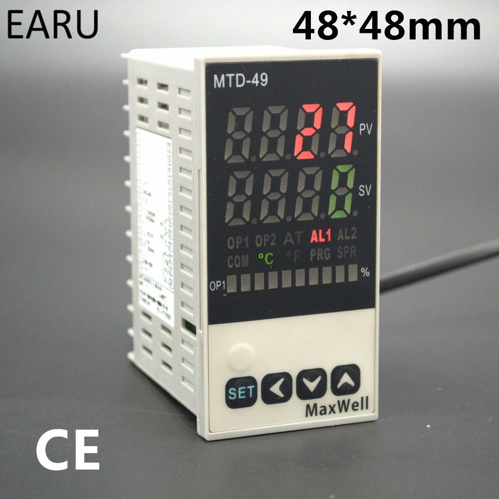 48*96mm Digital Temperature Controller Control AC85-265V Power Thermocouple Universial K J PT100 Input SSR+Relay / 4-20mA Output ac 150v 250v 800w double digits digital power controller dpc ii 800r zqpww
