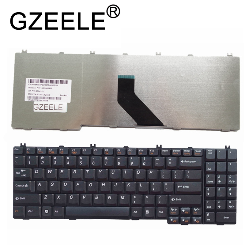 GZEELE New English US Laptop Keyboard For LENOVO  IdeaPad B550 B560 V560 G550 G550A G550M G550S G555 G555A G555AX Series Black