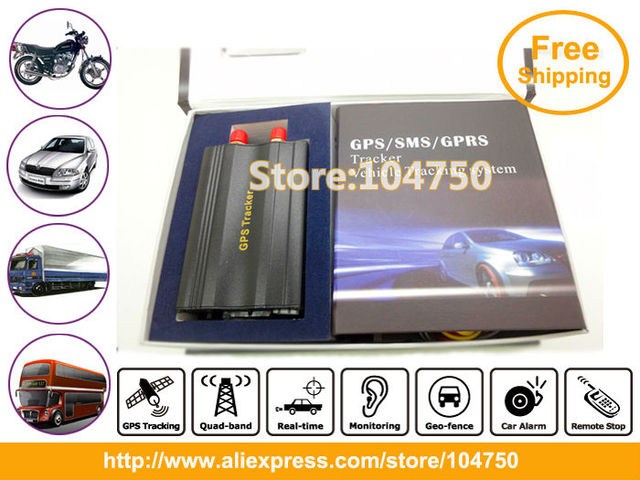China post Free Shipping! GPS Tracker and alarm system for cars by Mobile phone Tracking/Real-time Tracking GPS-VT103
