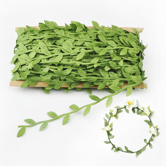 20m/lot Artificial Green Leaves Flowers Rattan Bride Garlands Home  Furnishing DIY Decorative Accessories