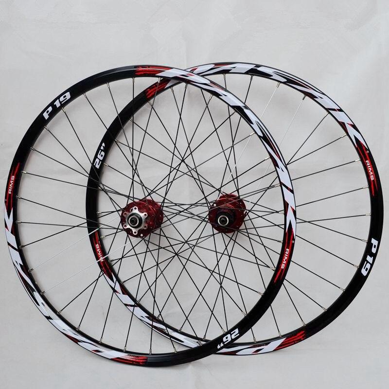 MEROCA P01 26inch MTB mountain bike CNC front 2 rear 4 sealed bearings disc wheels wheelset rim 27.5 29
