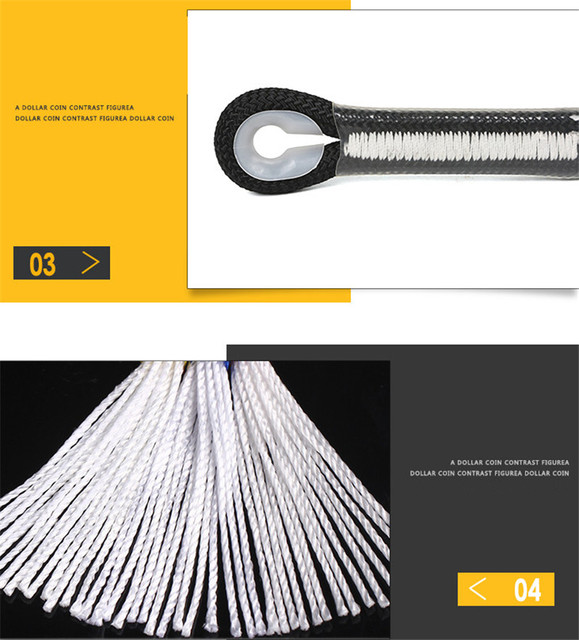 Professional Climbing Cord 12mm Diameter Length 10-100m 18KN High Strength polypropylene Paracord Safety Rope with 2pcs Buckle 5