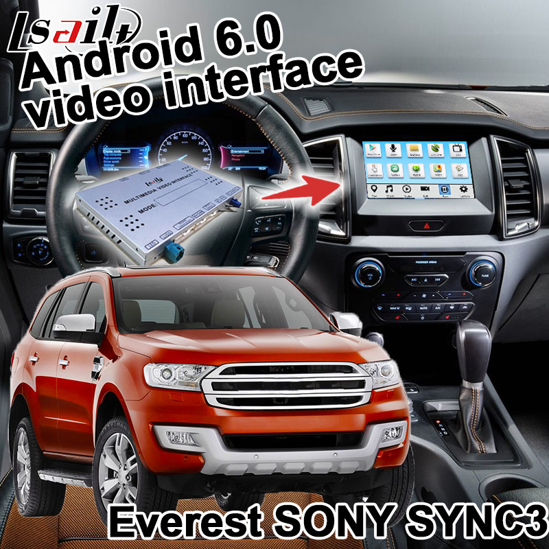 Android navigation box for Ford Everest Ranger etc video interface SYNC 3 Carplay mirror link waze youtube box quad core yandex