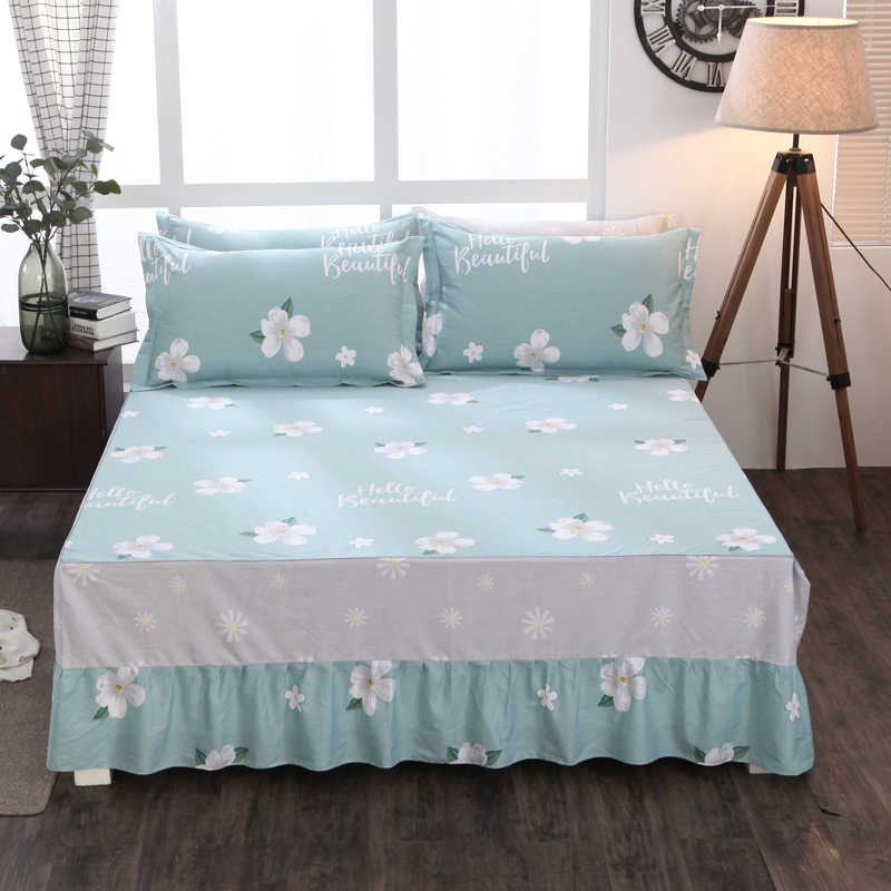 100% Cotton Bed Skirt Mattress Cover Petticoat Twin Full Queen Bed Skirts Bedspread bedding Multi-color and multi-size optional