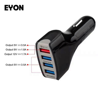 For Quick Charge 3 0 Car Charger 4 Ports Car Fast Charger For IPhone 7 6S