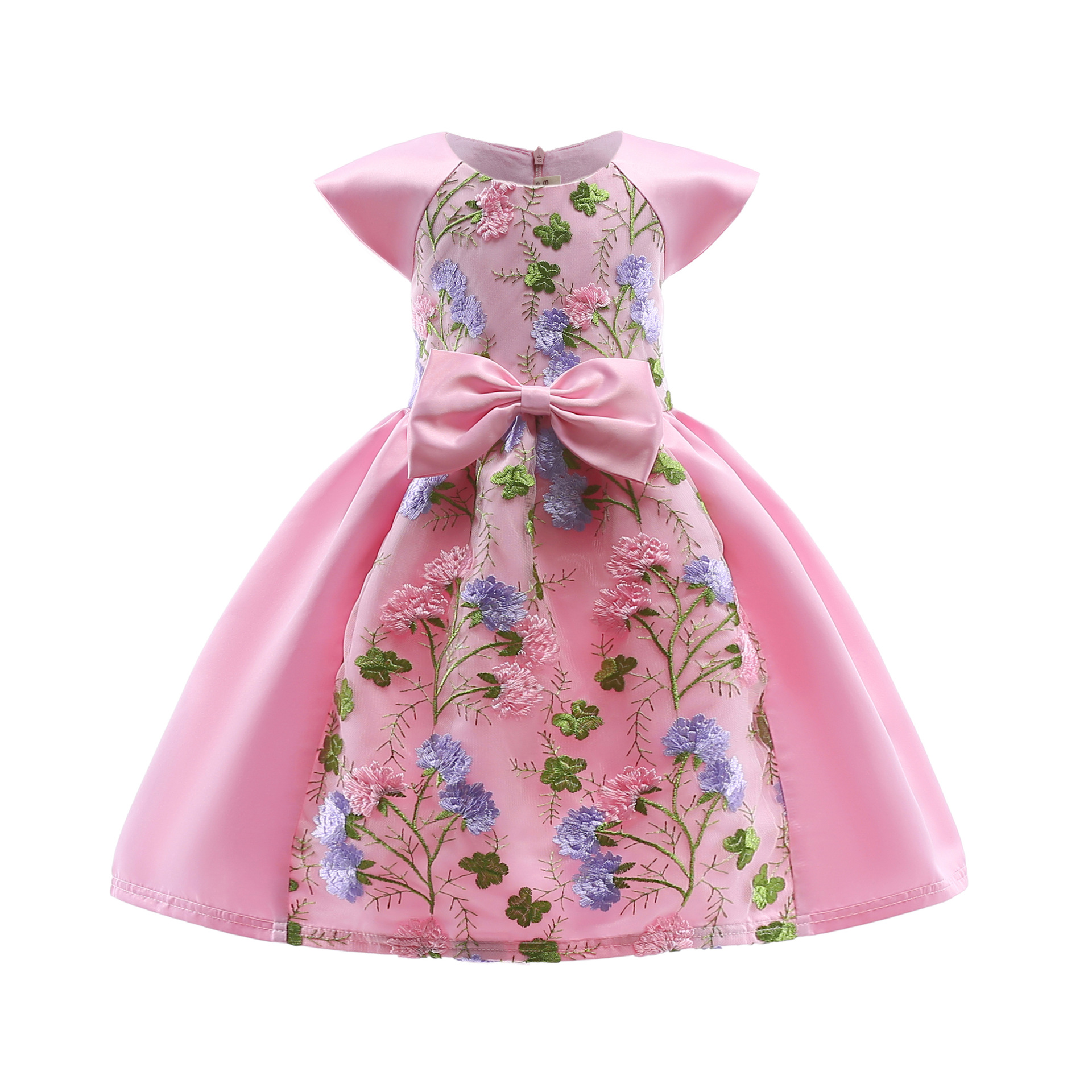 Little Girls Dress Embroidered Flower Girl Princess Dress Kid Party Wedding Pageant Lace Tulle Birthday Gown Girls Costumes vintage lace baby girl wedding pageant dress infant princess little girls birthday party dress lace big bow sleeveless dress