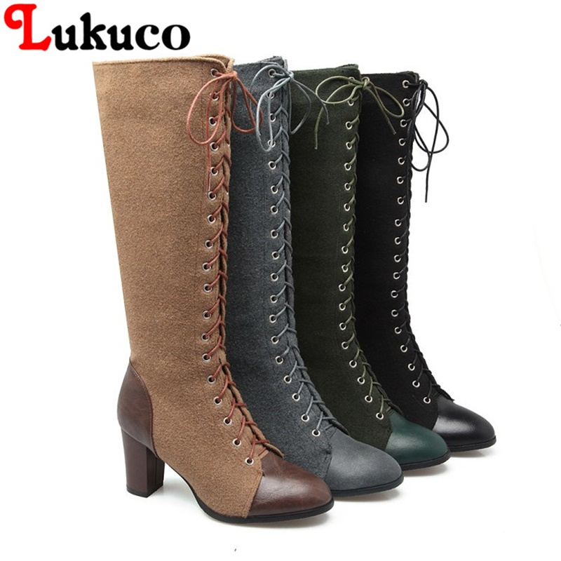 2018 Elegant lace-up boots large CN size 41 42 43 44 45 46 47 48 round toe design women sexy shoes real pictures free shipping high quality full grain leather and pu martin boots size 40 41 42 43 44 zipper design lace up decoration round toe boots