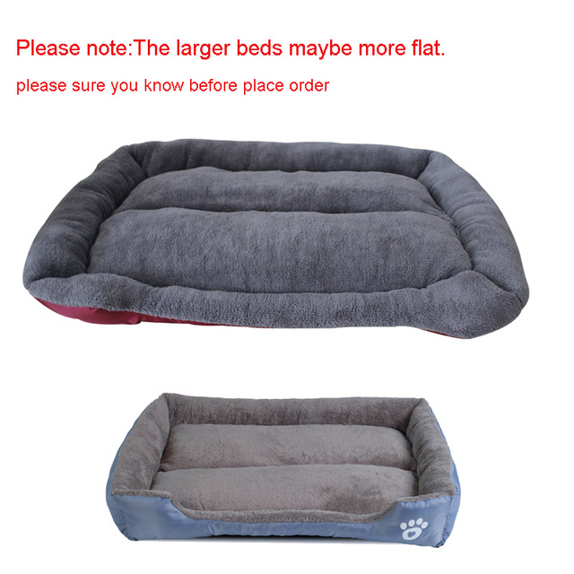S-3XL 9 Colors Paw Pet Sofa Dog Beds Waterproof Bottom Soft Fleece Warm Cat Bed House Petshop Dropshipping cama perro 3