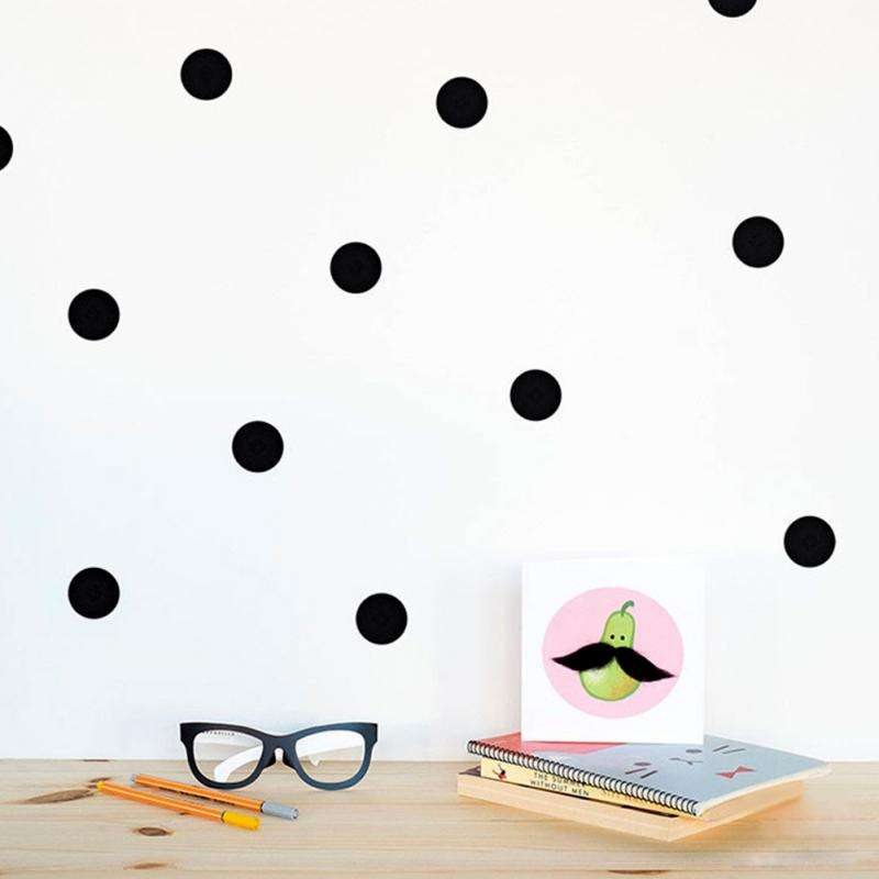 Black Dots Wall Tile Stickers Wall Decal Family Diy Removable Home Decoration Art Kids Room Decor+1 White Chalk Liquid Marker
