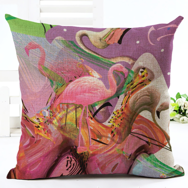 Animal Style Printed Cushion Cover Home Sofa Decorative Throw Pillowcase Bedroom Car Waist Back Pillow Cover F