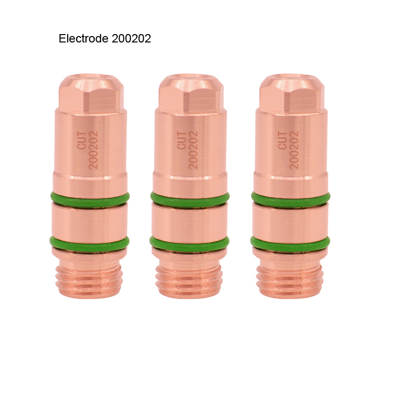 Купить с кэшбэком Free Shipping 2Pcs/Lot 200A Plasma Cutting Machine Electrode 200202 Nozzle 200203 Cutting Nozzles Protection Cap 200204
