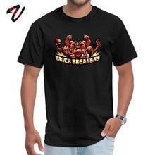 купить Necronomicon Adult Tequila Sleeve Brick Breakers T-Shirt Summer Tops & Tees Fitted Design Round Neck Tee Shirts Top Quality по цене 397.3 рублей