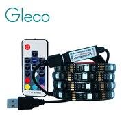 5V USB LED Strip 5050 RGB Flexible Light 1M 2M IP65 Waterproof TV Background Lighting Strip