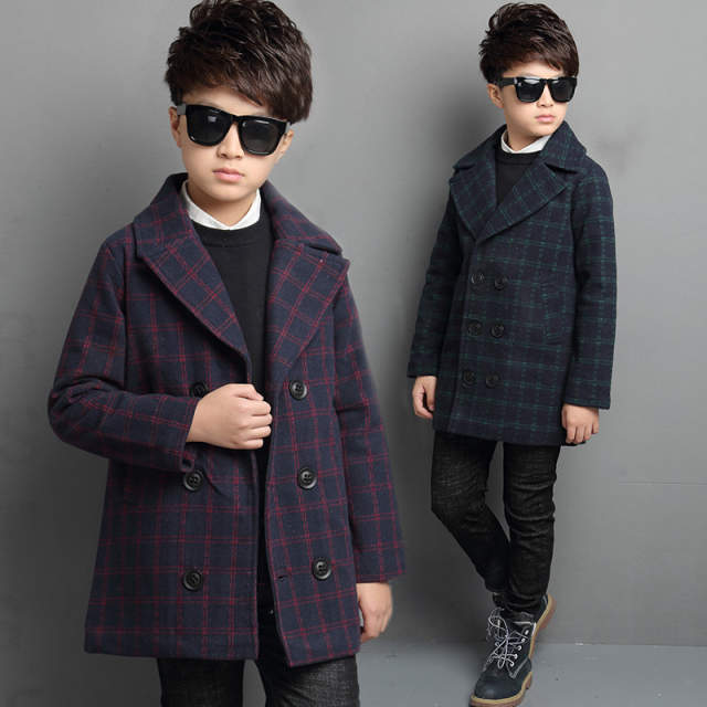 a9e9d08be02b Online Shop 2018 spring new boys wool blends children outwear coat ...