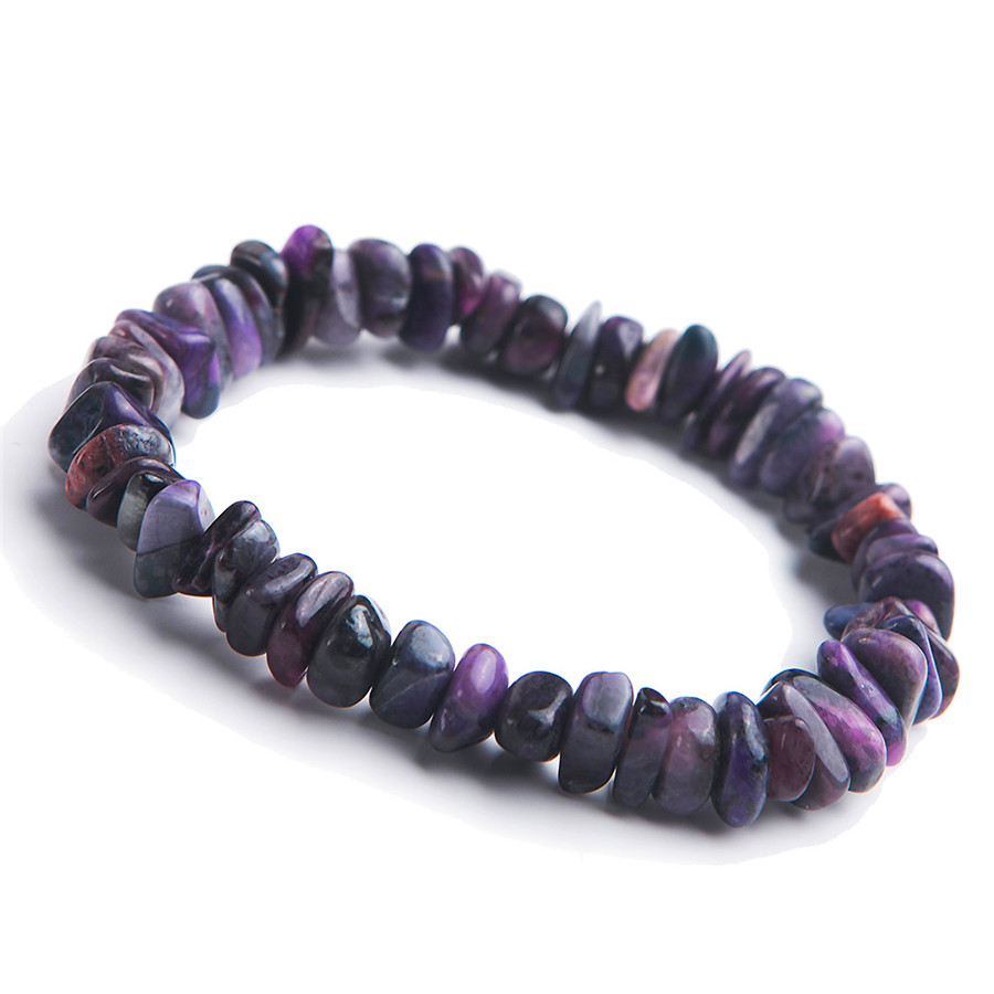 Other Rocks, Fossils, Minerals Natural Purple Sugilite Gems South Africa Rectangle Beads Bracelet 13mm Aaaa