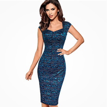Elegant Wear To Work Women Office Business Dress Casual Tunic Bodycon Sheath Fitted Sexy Lace Pencil Dress цена