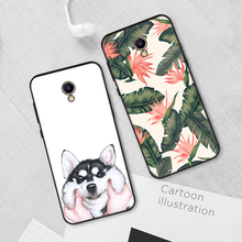 Lovely Pattern Black TPU Cases for Meizu M6 M5 Note M5S M5C