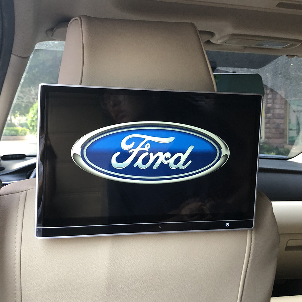 2PCS 12.5 Inch Car TV 12V Rear Screen DVD Headrest Monitor Android 7.1 Rear Seat Entertainment System For 2017 Ford Edge Sport2PCS 12.5 Inch Car TV 12V Rear Screen DVD Headrest Monitor Android 7.1 Rear Seat Entertainment System For 2017 Ford Edge Sport