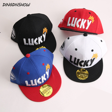 [DINGDNSHOW] 2019 Brand Child Baseball Cap Cotton Snapbacks Hat Embroidery Letters Cartoon Hip Hop Cap Boys and Girls Flat Hat цена