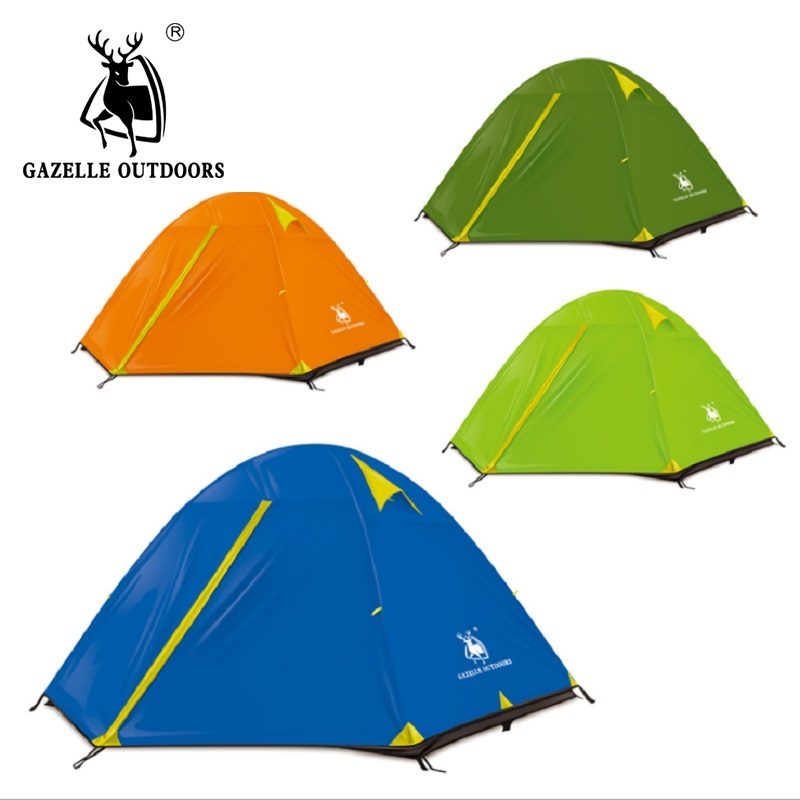 Double Layer 4 Season Outdoor Camping Tent Ultralight Beach Tent Tente Camping Awning Quechua Winter Tent Gazebo Sun Shelter octagonal outdoor camping tent large space family tent 5 8 persons waterproof awning shelter beach party tent double door tents