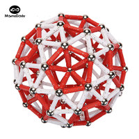 Magnetic Constructor Toys For Children Building Designer Toy Red White Classic Metal Balls Magnet Bars Blocks