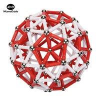 Magnetic Constructor Toys For Children Building Designer Toy Red White Classic Metal Balls Magnet Bars Blocks