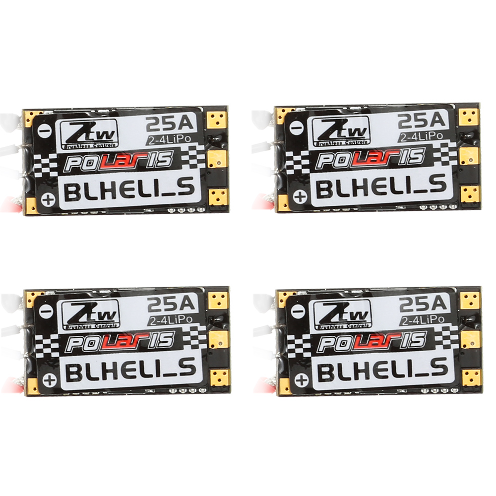 hight resolution of goolsky 4pcs polari s 25a 2 4s blheli s brushless opto esc support oneshot125 oneshot42 for f330 rc multi rotor rc drone quad in parts accessories from