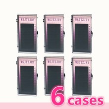 WSJTZJRY 6 cases set,16 rows High quality mink eyelash extension,individual eyelashes,natural eyelashes,fake false eyelashes