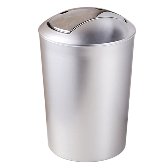 ITECHOR 10L European Style Garbage Can Plastic Trash Wastebin With Lid  Living Room Kitchen Trash Cans Cleaning Tools-in Waste Bins from Home &  Garden ...
